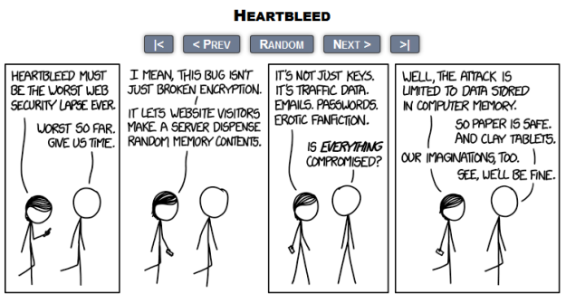View this webcomic here: http://imgs.xkcd.com/comics/heartbleed.png