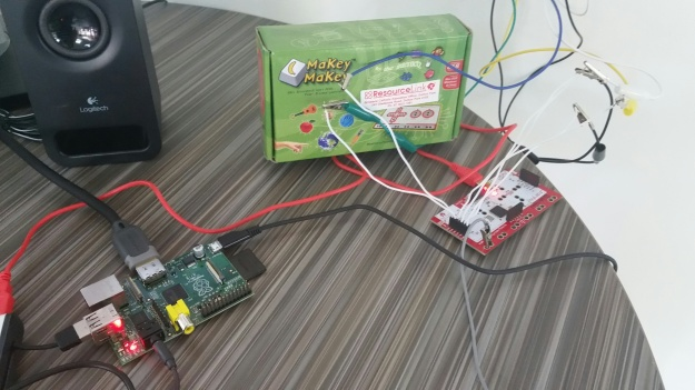 The Raspberry Pi and Makey Makey